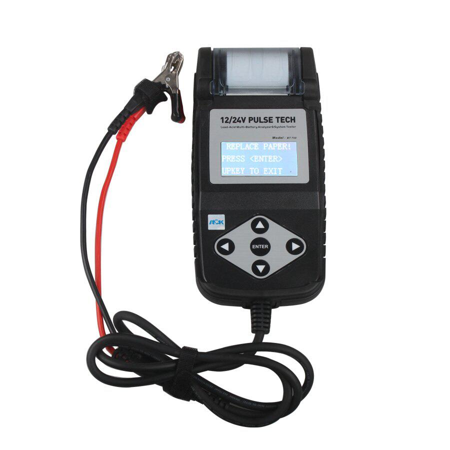 BT750 Battery Tester 12/24V Automotive Battery Analyzer with Printer