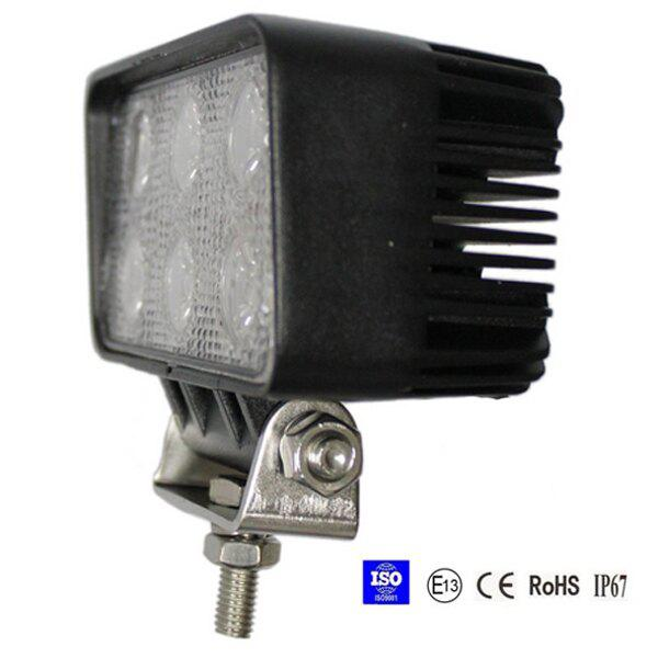 18W Spot/Flood LED Work Light OffRoad Jeep Boat Truck IP67 12V 24V