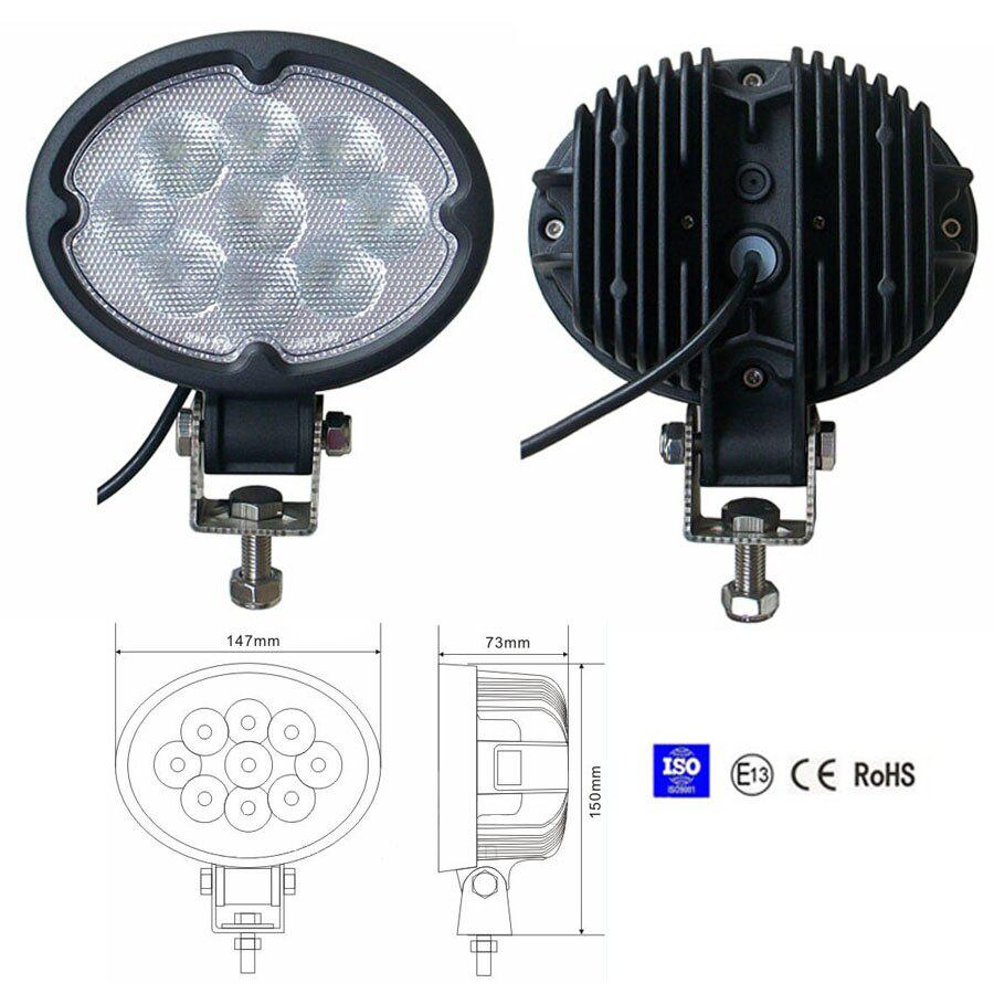 27W Spot/Flood LED Work Light OffRoad Jeep Boat Truck IP67 12V 24V