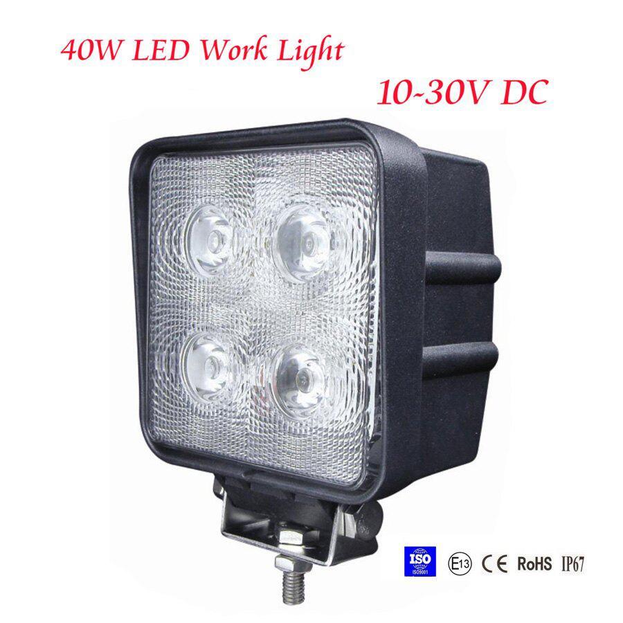 40W LED Work Light Lamp Off Road Rhino Polaris Truck 4x4 4WD Jeep Boat Spot