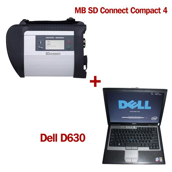 V2012.11 MB SD Connect Compact 4 Star Diagnosis with DELL D630 Laptop 4GB Memory Support Offline Programming