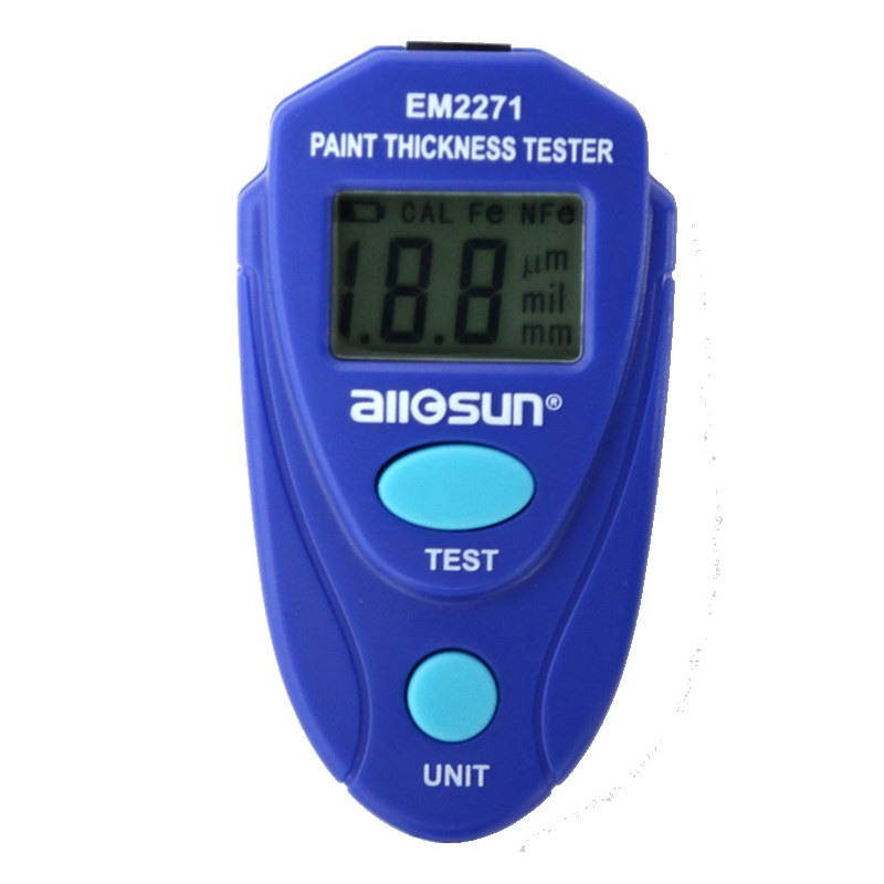LCD Digital Car Painting Thickness Tester Paint Thickness Gauge All-Sun EM2271