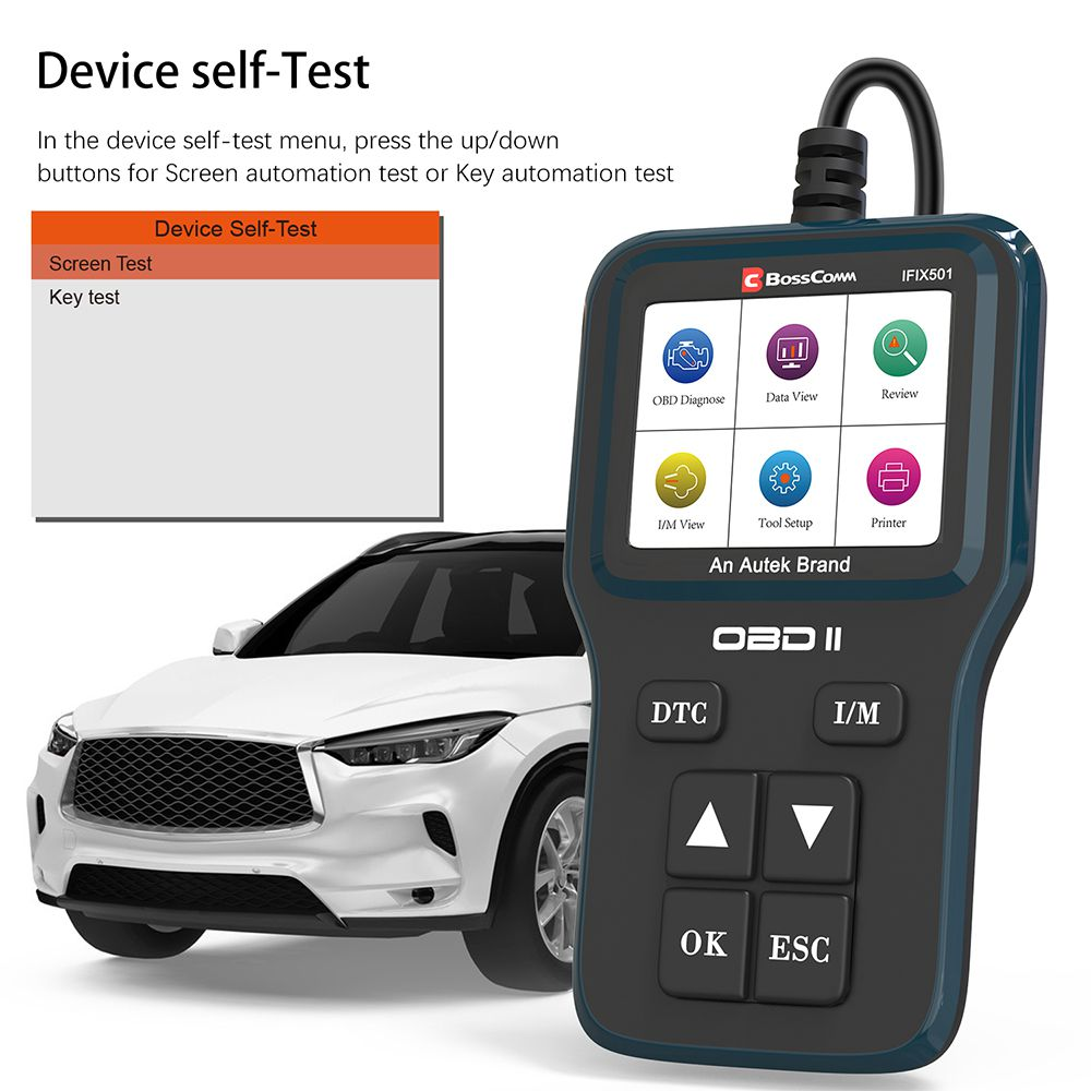 Autek IFIX501 OBD2 Automotive Scanner Professional Code Reader Engine Analyzer Diagnostics Car Tools OBD 2 Car Diagnostic Tool