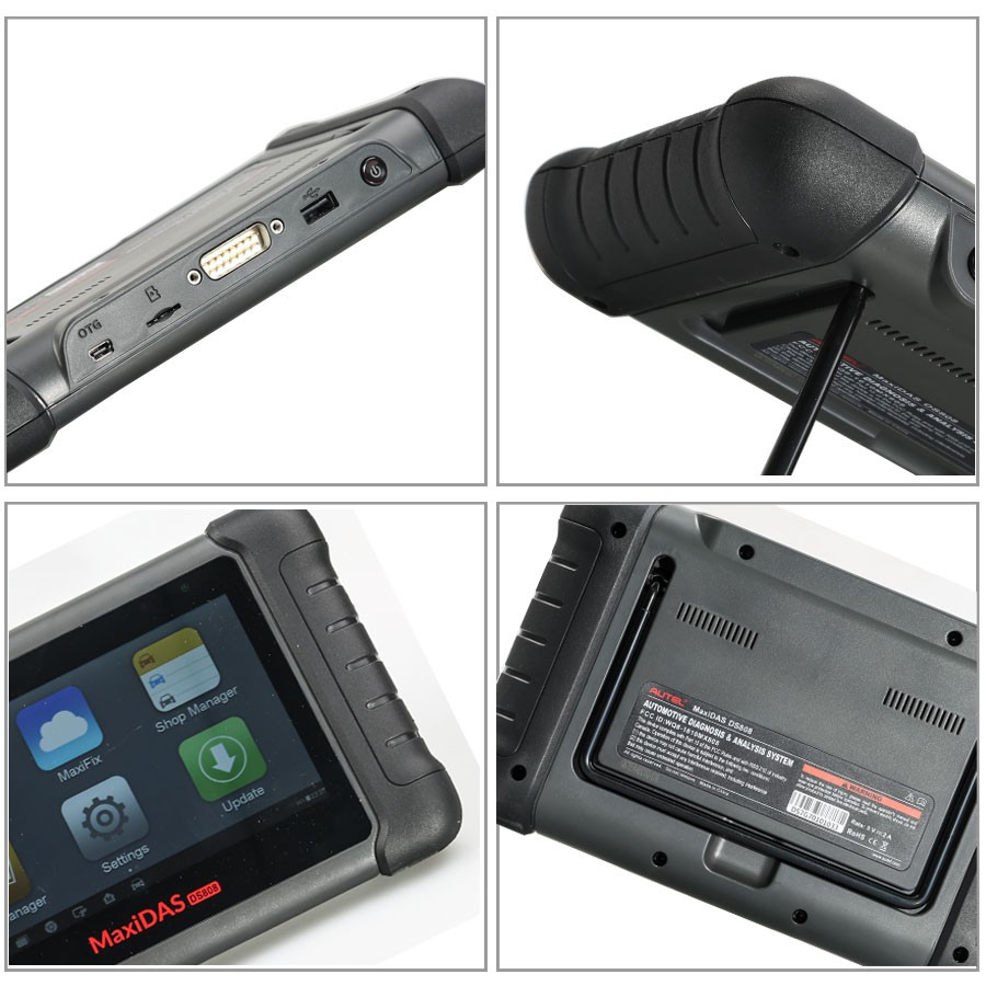 AUTEL MaxiDAS DS808 KIT Tablet Diagnostic Tool Full Set Support Injector & Key Coding Update Online