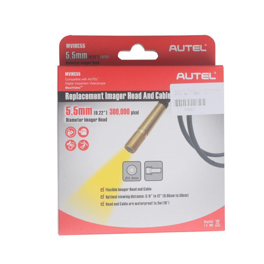 Autel MaxiVideo MV400/MV208 5.5mm Imager Head Replacement MVIHC5.5 USB