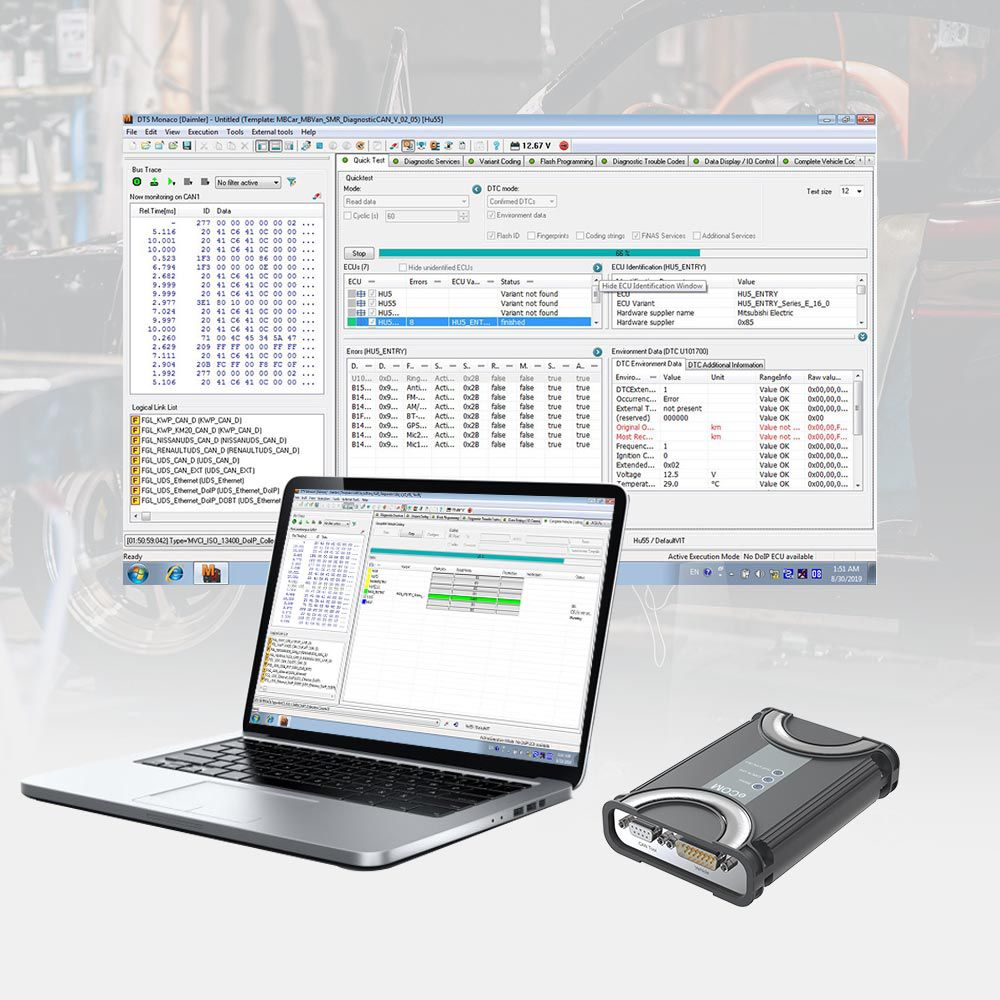Benz ECOM Doip Diagnostic & Programming Tool without Software