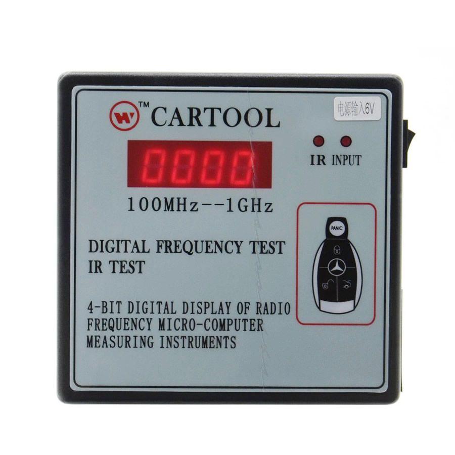 CARTOOL Digital Frequency Tester IR Tester Remote Key Frequency Tester (Frequency Range 100-1GMHZ)