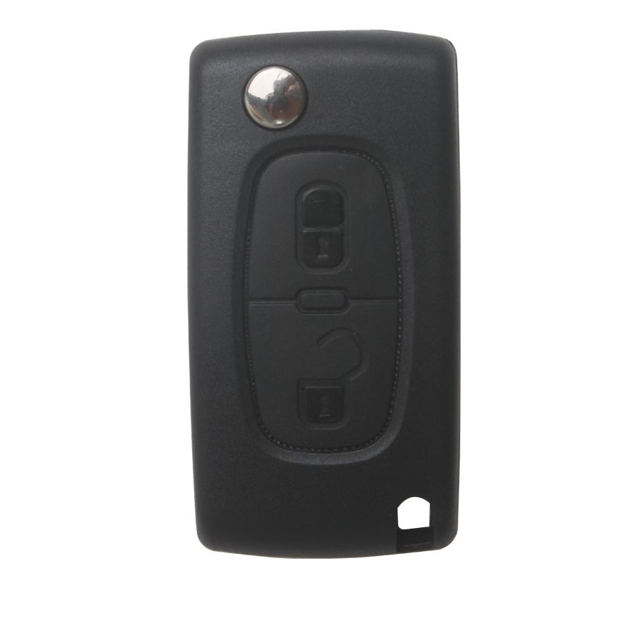 Remote Key 2 Button 433MHZ HU83( with groove) for Citroen