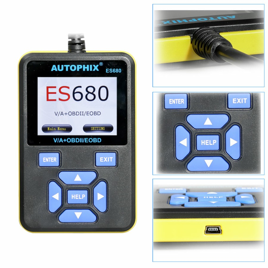 AUTOPHIX E-SCAN ES680 VAG RPO+OBD Scanner Multi Languages OBDII For VW Audi Seat Skoda Jetta Golf