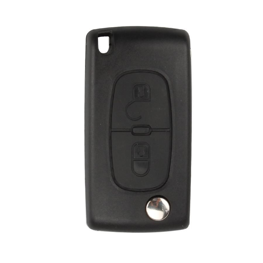Flip Remote Key Shell 2 Button (Without Battery Location) for Citroen 5pcs/lot