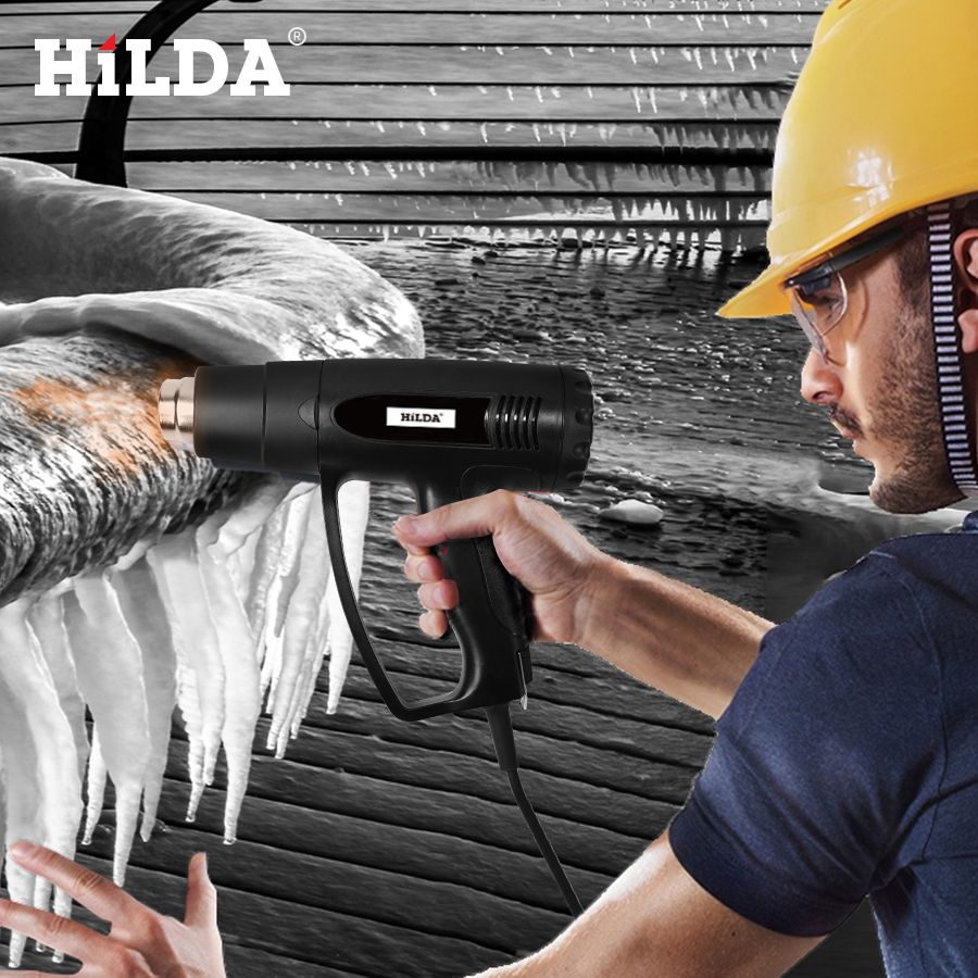 HILDA 2000W Heat Gun With adjustable 2 Temperatures Advanced Electric Hot Air Gun 220V Power Tool