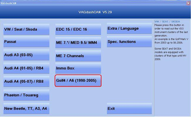 VAG Can V5.29 software display 1
