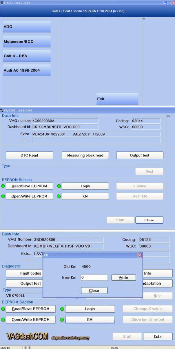 VAG Dash V5.29 Software 3