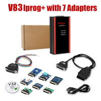 V82 iProg+ Programmer iProg Plus Full  with 7 Adapters Support IMMO + Mileage Correction + Airbag Reset