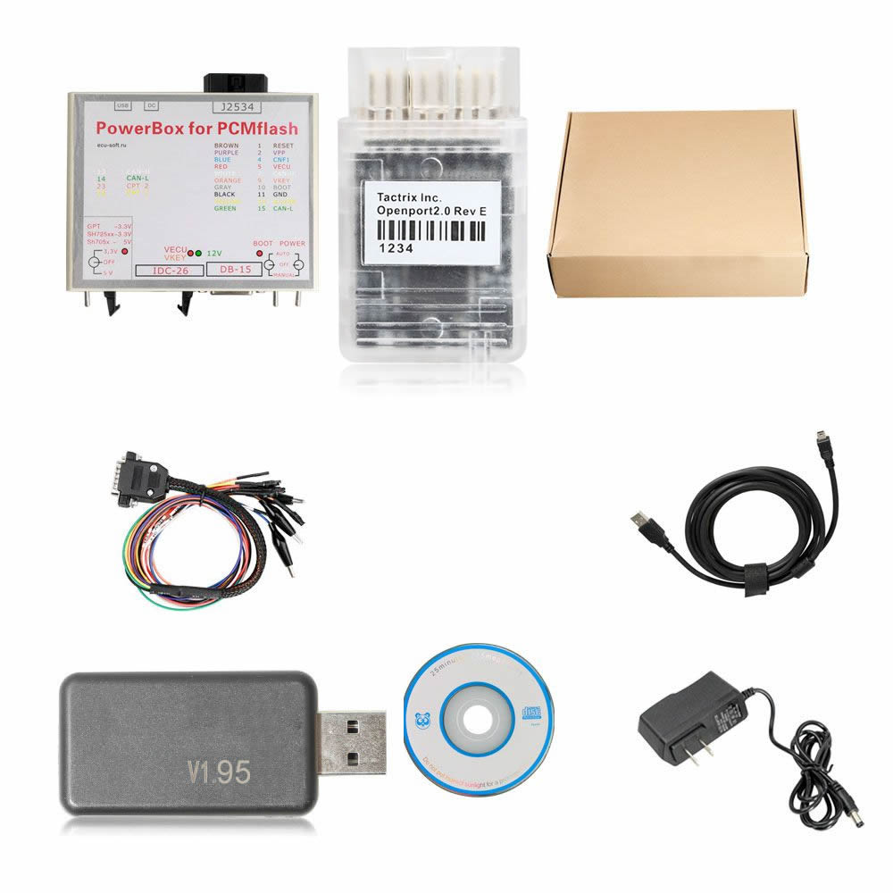 KTMflash PCMFlash ECU Programmer & Transmission Power Upgrade Tool Support V-A-G DQ200 DQ250 Infineon Bosch & 271 MSV80 MSV90 with Dialink J2534 Cable