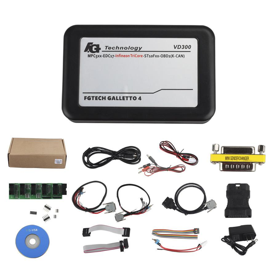Latest Version VD300 V54 FGTech Galletto 4 Master BDM-TriCore-OBD Function