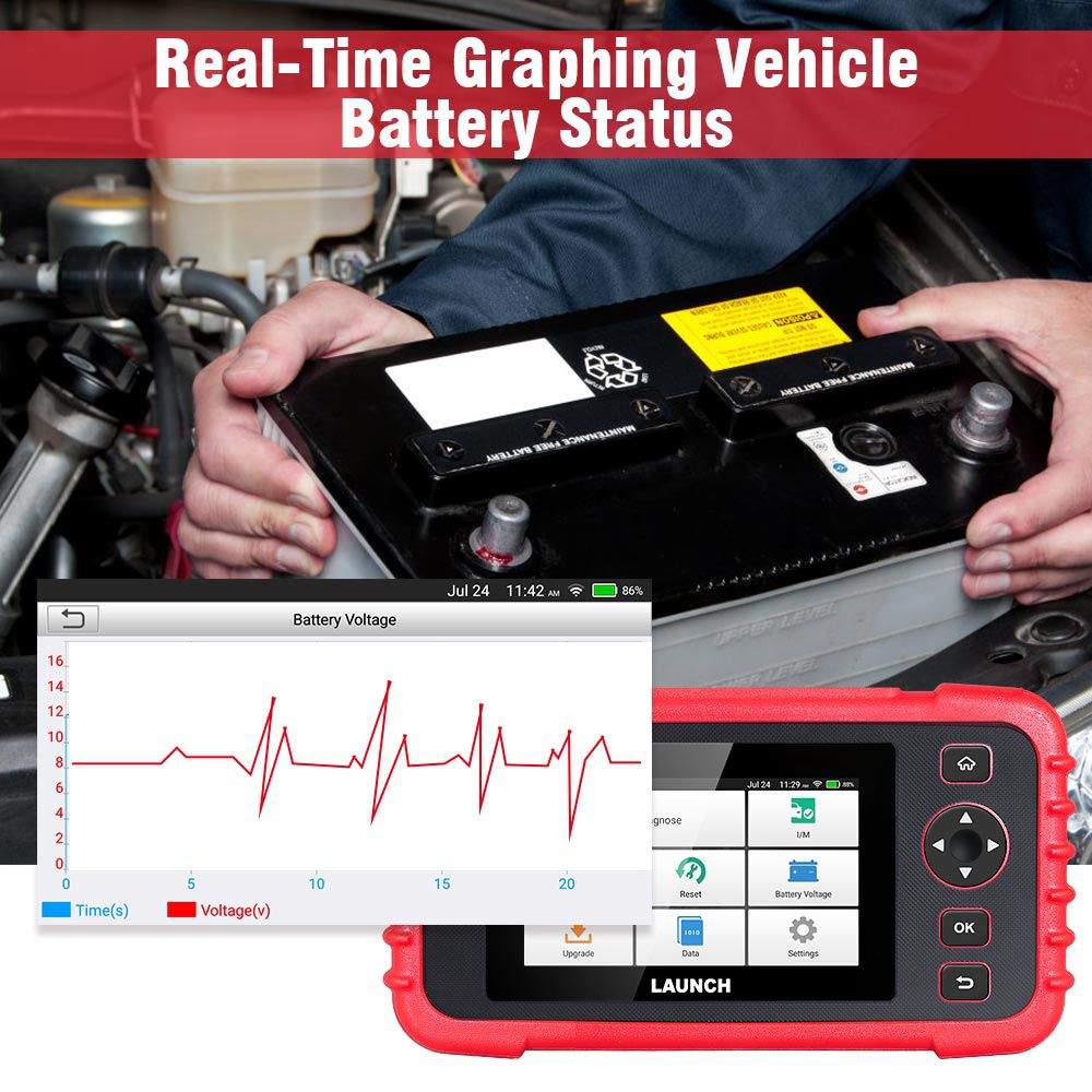 Original LAUNCH Creader CRP129X Car Diagnostic Tool for Engine/Transmission/ABS/SRS Advanced Version of CRP129