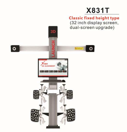 Original LAUNCH X831T 3D 4-Post Car  Alignment Lift Platform