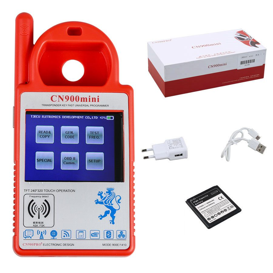V5.18 CN900 Mini Transponder Key Programmer Support Multi-Language for 4C 46 4D 48 G Chips