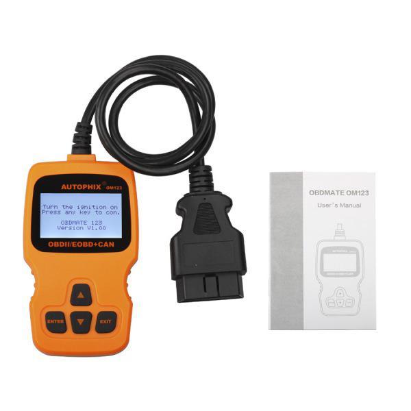 AUTOPHIX OM123 OBD2 EOBD CAN Hand-held Engine Code Reader (Orange Color)