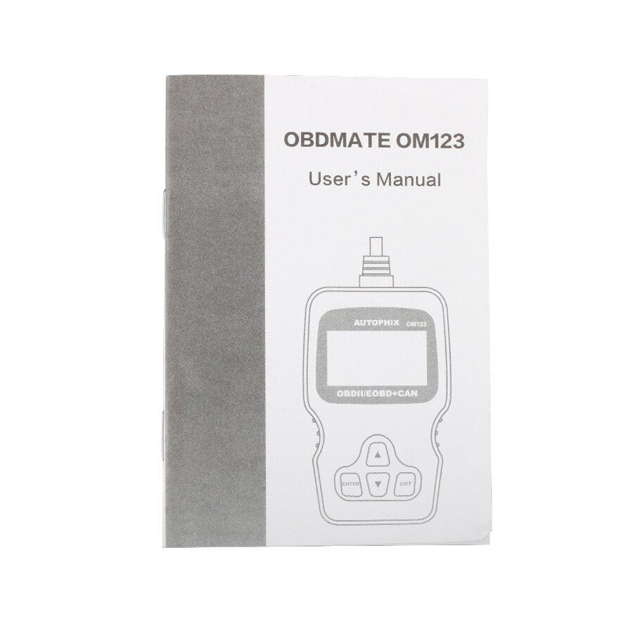 New Arrival OM123 OBD2 EOBD CAN Hand-held Engine Code Reader Multi Language (Black Color)