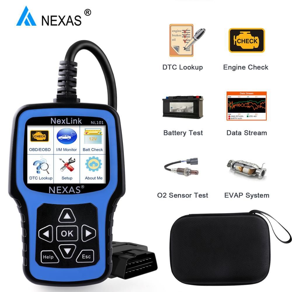 NEXAS NL101 OBD2 Automotive Scanner Engine EVAP Battery OBDII Scanner