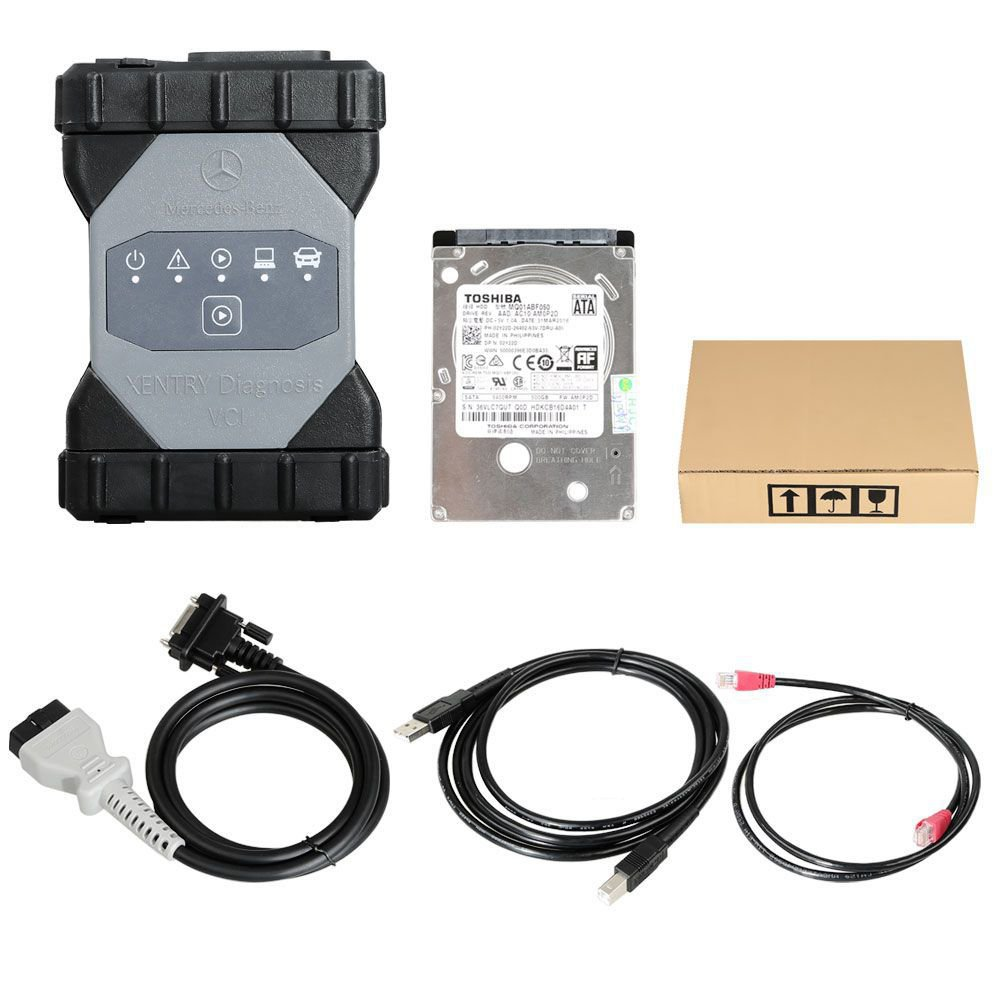 OEM Mercedes Benz C6 DoIP Xentry Diagnosis VCI Multiple with V2020.9 Software Keygen Included