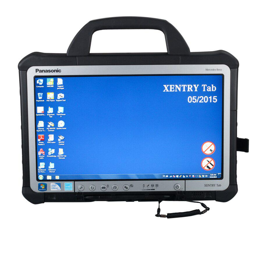 Original Second Hand V2015.05 Mercedes BENZ C5 SD Connect Xentry Tab Kit Support Online Update For 1 Year