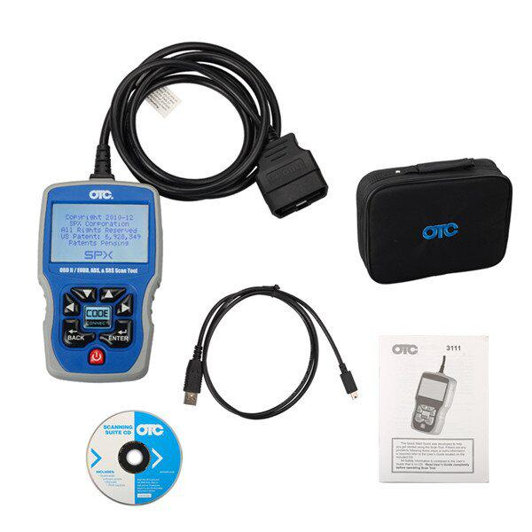 OTC OBDII CAN ABS Airbag (SRS) 3111 Scan Tool OBD2 EOBD Code Reader