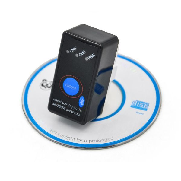NEW Super Mini ELM327 Bluetooth OBD-II OBD Can With Power Switch Software V2.1