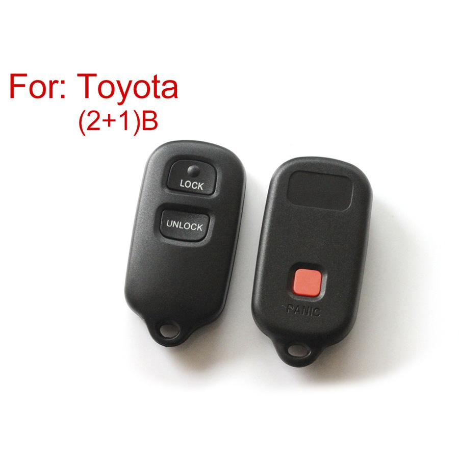 Remote Key Shell For Toyota 2+1 Buttons 5pcs/lot