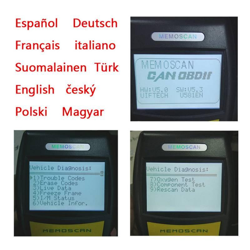 U581 LIVE DATA OBD2 Can-Bus Code Reader