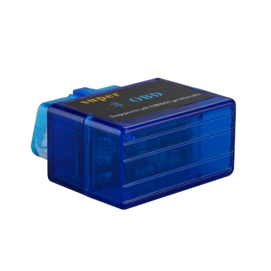 V1.5 Mini ELM327 ELM 327 OBD2 Bluetooth Interface Auto OBDII Diagnostic Scanner (Blue)