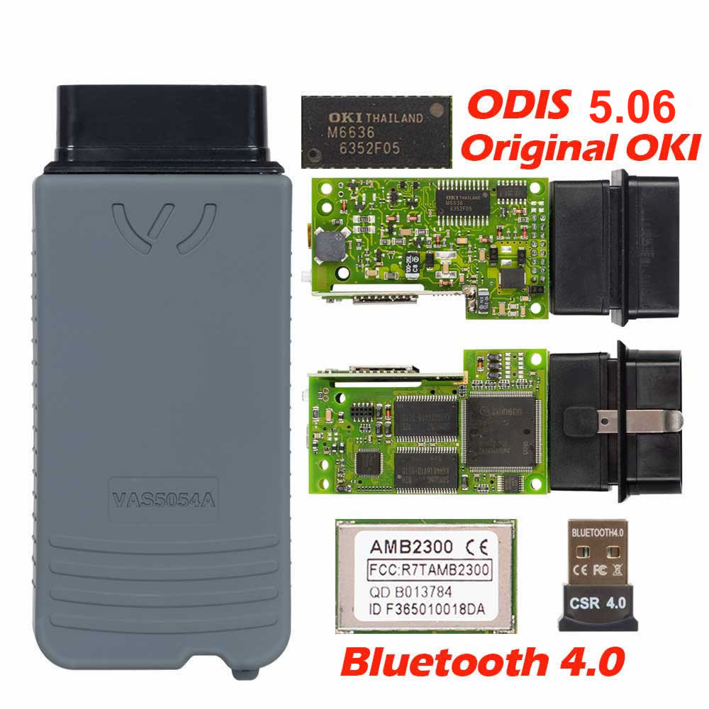 2019 Latest VAS5054 ODIS V5.1.3 Full Chip Original OKI Auto OBD2 Diagnostic Tool VAS5054A VAS 5054A Bluetooth code reader Scanner