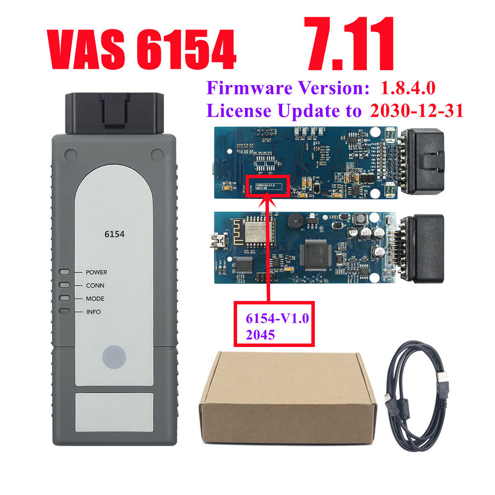 New WIFI VAS6154 ODIS 4.4.10 VAG Diagnostic Tool for VW Audi Skoda
