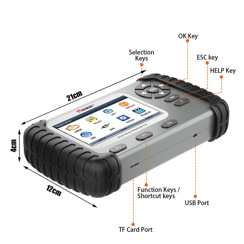 VIDENT iAuto708 Full System All Make Scan Tool OBDII Scanner OBDII Diagnostic Tool
