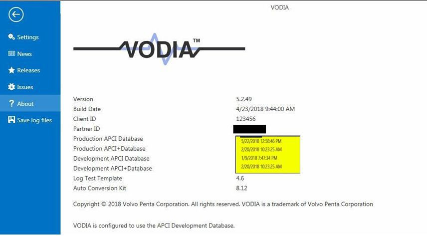 Latest Version Volvo Vodia Penta VODIA 5.2.50 with One Time Free Activation works with VOCOM