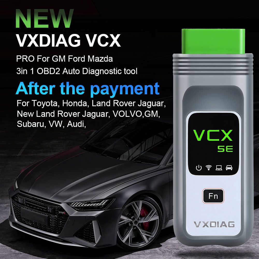 2020 Upgrade Version VXDIAG VCX NANO PRO Diagnostic Tool with 3 Free Car Software from GM/FORD/MAZDA/VW/AUDI/HONDA/VOLVO/TOYOTA/JLR/JLR Doip/Subaru
