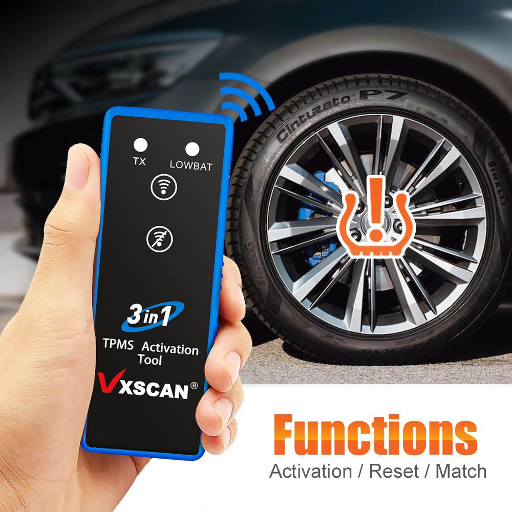 VXSCAN 3 in 1 Tire Pressure TPMS Activation Tool for TOYATA/GM/FORD