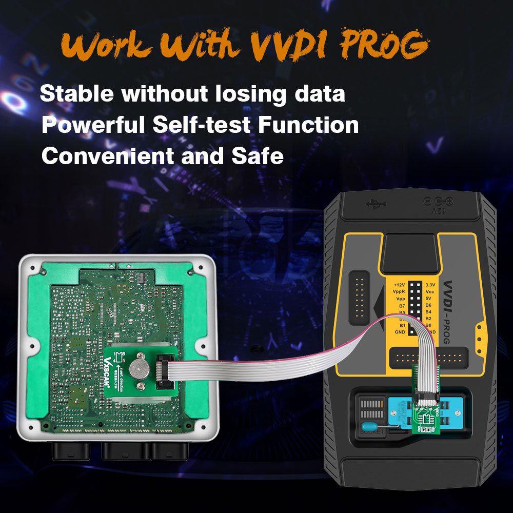 VXSCAN 8Pin Adapter BMW FEM-BDC 95128/95256 Chip Anti-theft Data Reading Adapter Work with VVDI Prog/CG Pro 9S12/Orange5/iProg+ /UPA USB Programmer