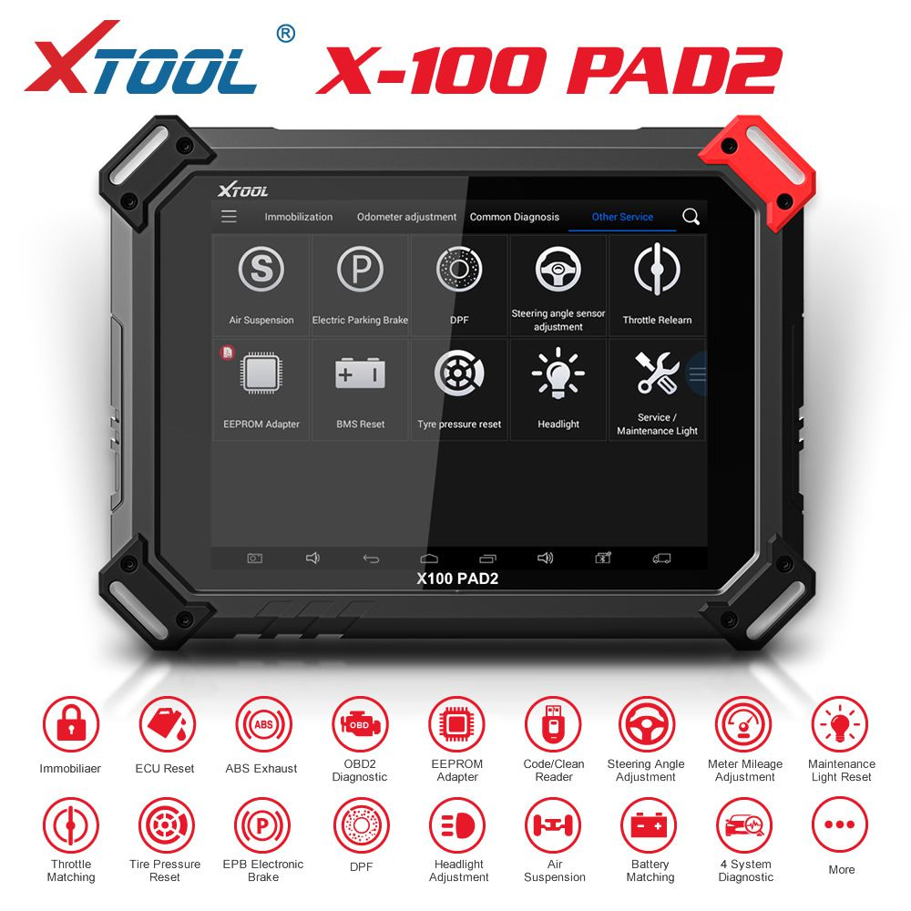 XTOOL X100 X-100 PAD2 Pro Key Programmer Full Version with VW 4th & 5th IMMO More Special Function Added