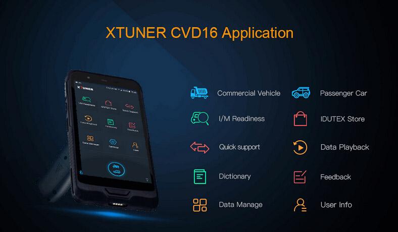 XTUNER CVD-16 Application