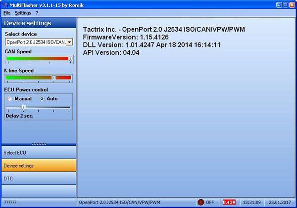 MultiFlasher ECU Chip Tuning Software for Hyundai Kia