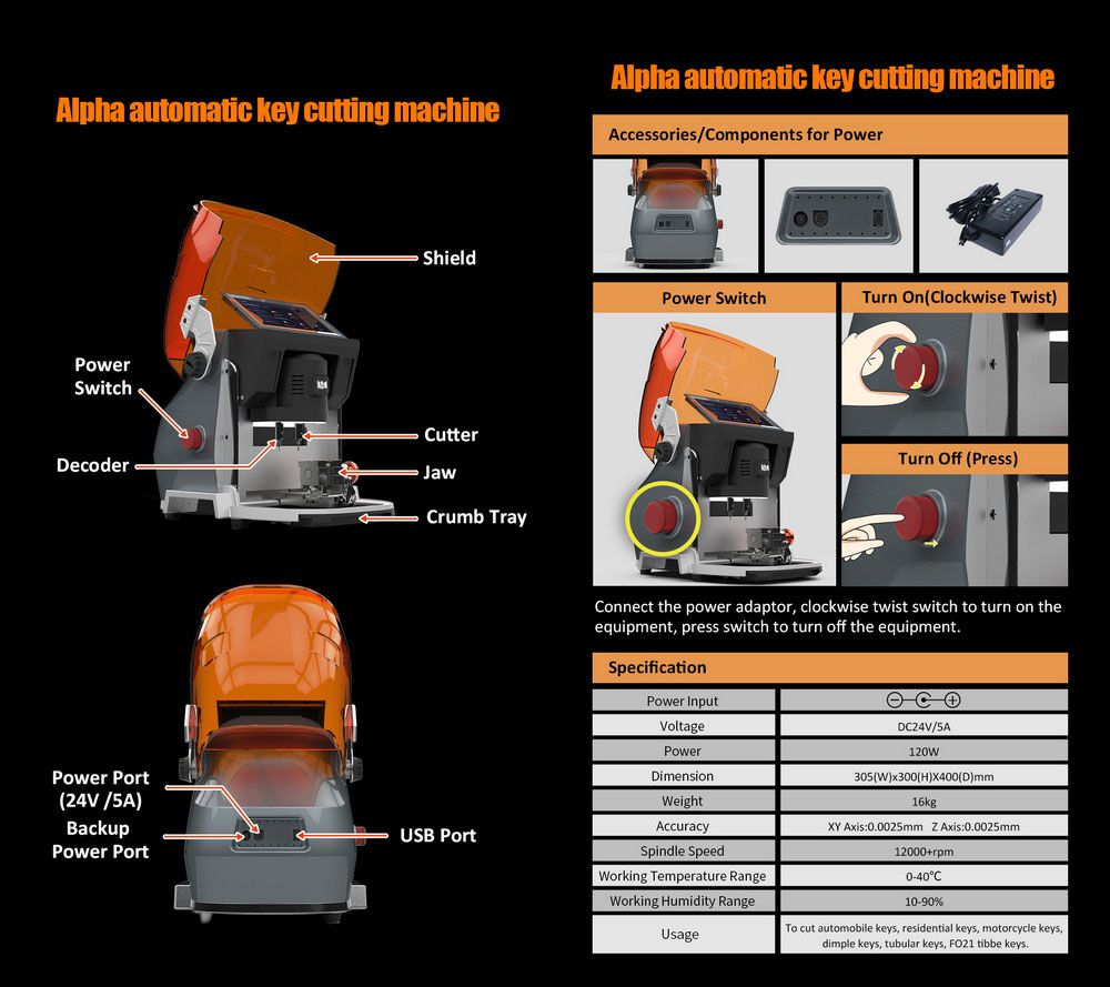 Alpha Automatic Key Cutting Machine