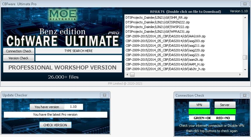 CBFWare Ultimate Pro for all Mercedes Benz Workshop