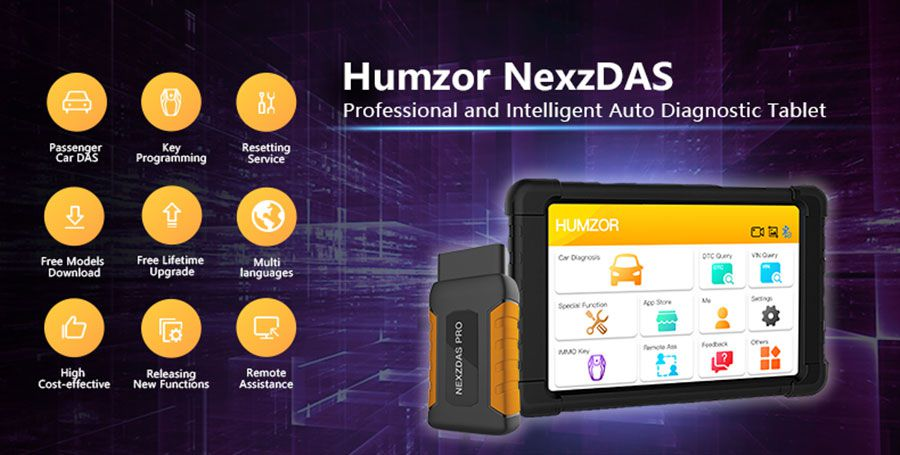 Humzor NexzDAS Pro Bluetooth 10inch Tablet