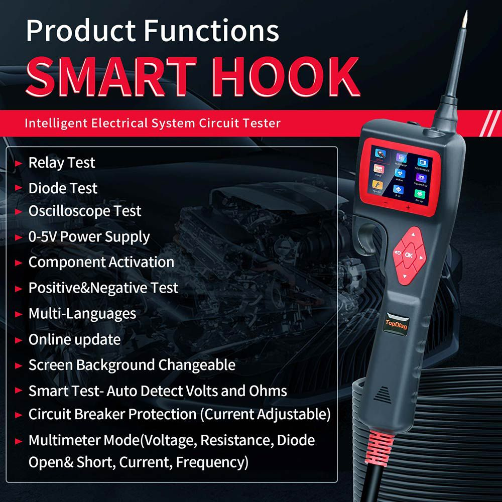 JDIAG P200 SMART HOOK Powerful Probe
