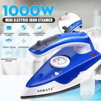 1000W Mini Spray Steam Iron Ceramic Coating Soleplate Folding Handle Electric Irons Temperature control Clothes Ironing Steamer