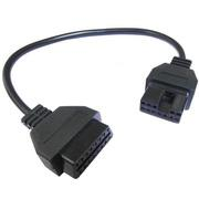 12pin OBD2 Connector Adapter for Mitsubishi Auto Diagnostic Tool-Black Head