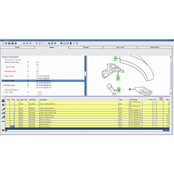 2014 Version Mitchell Heavy And Medium Truck Estimator System